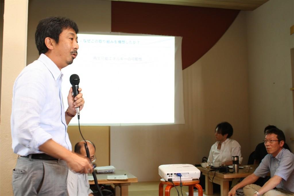 兵庫県宝塚市で太陽光発電事業を営む西田光彦さん