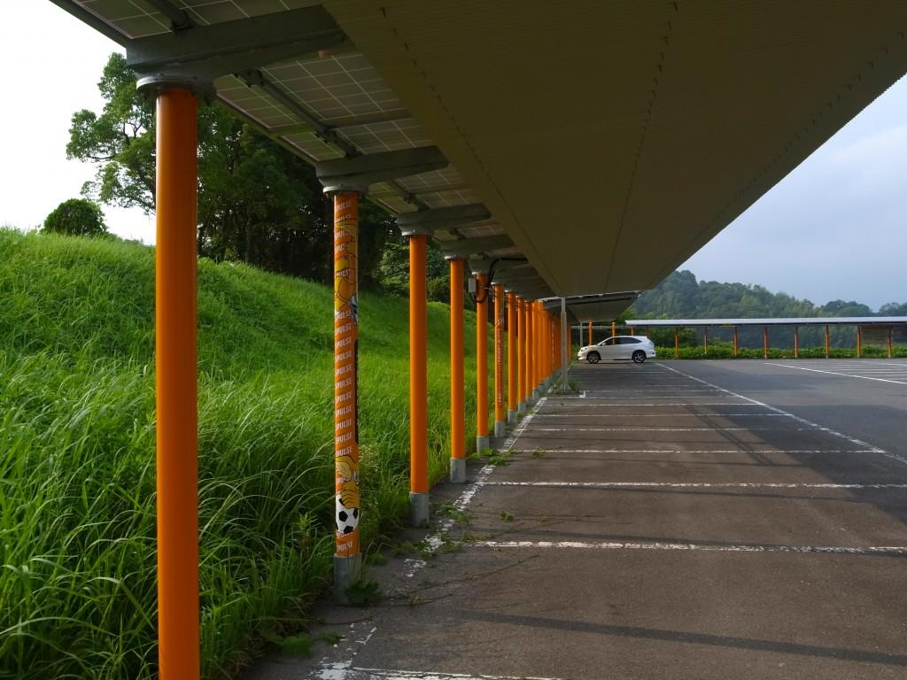 清水エスパルスの本拠地IAIスタジアムに設置された太陽光発電