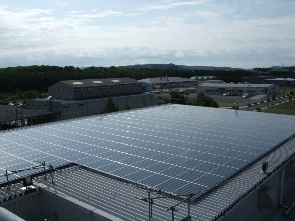 「西薩クリーンサンセット」の工場に設置した太陽光発電(写真:さつま自然エネルギー)