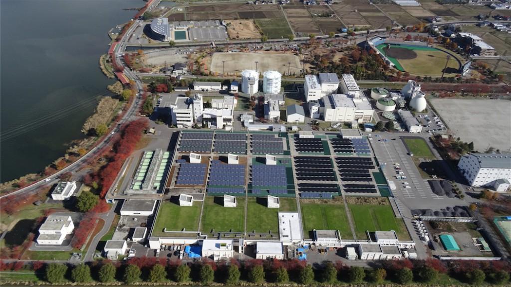 SUWACO laboを上空から見た様子(写真:岡谷酸素)