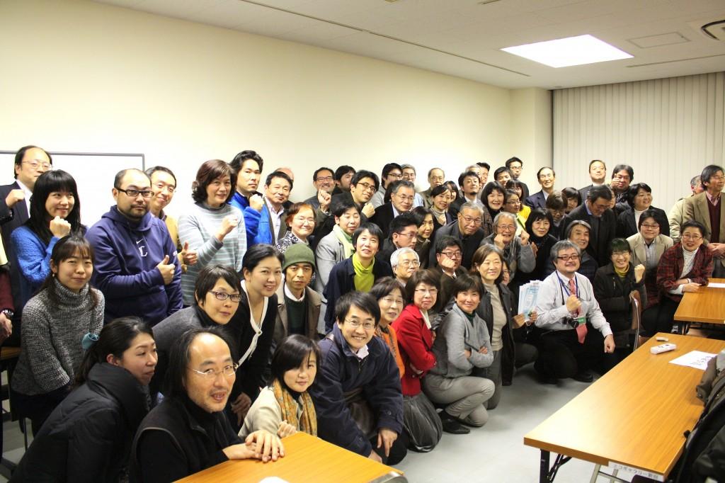 市民電力連絡会発足記念フォーラムに集まった市民電力を手がける人々(写真:高橋真樹)