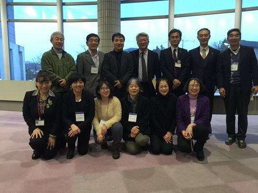 2015年2月14日相馬市で開催した再エネフォーラムの出演者と主催メンバー